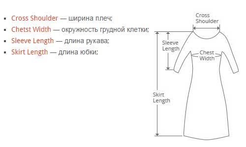 размеры платья