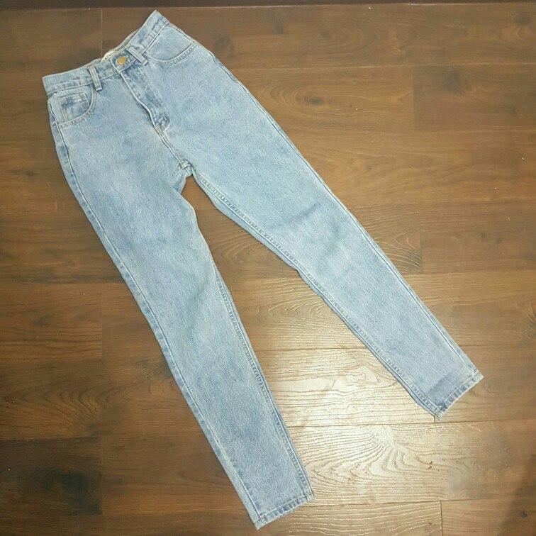 джинсы с завышенной талией 3